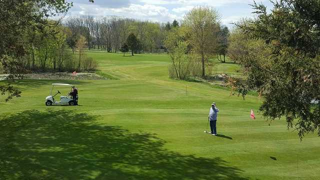 A view of a hole at Lake Beulah Country Club