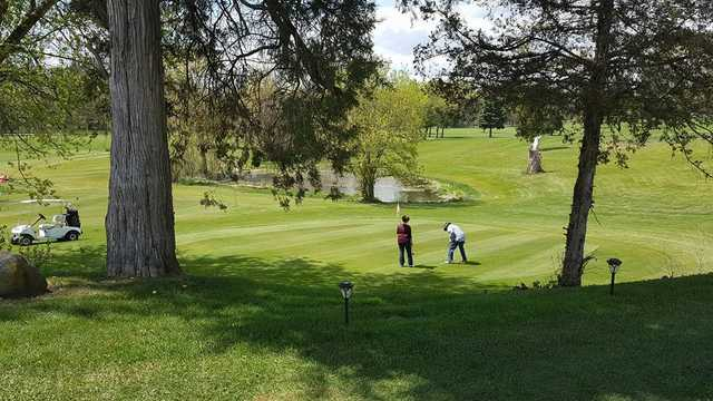 A view of a green at Lake Beulah Country Club