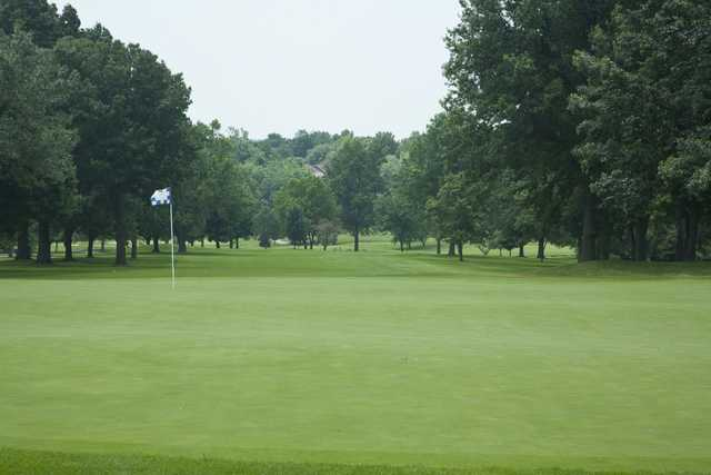 A view of the 18th green at Blue Hills Country Club.