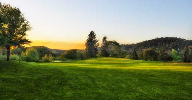 A view from a fairway at Auburn Valley Golf Club