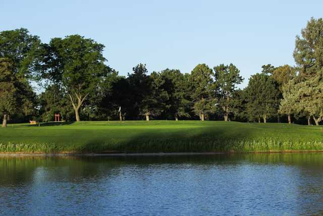 A view of the 6th green at Denver City Park Golf Course