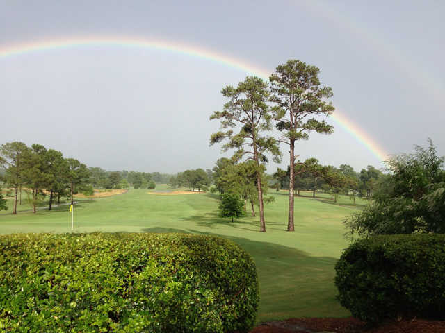 The rainbow protecting Country Club of Jackson