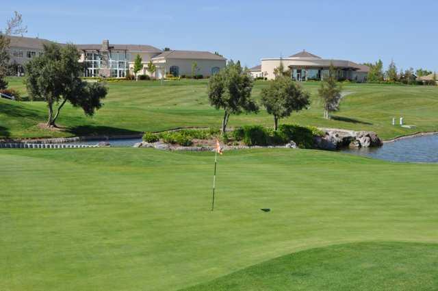 A view of a green at Rio Vista Golf Club