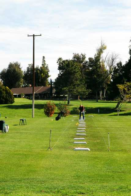 A view of the driving range at Jurupa Hills Country Club