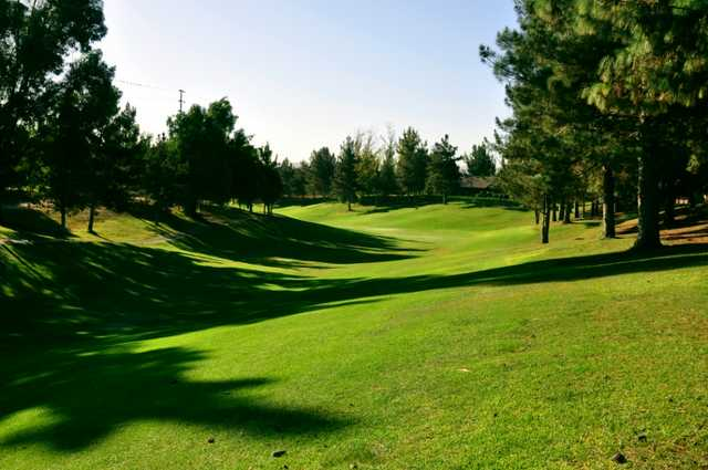 A view of the 15th fairway at Jurupa Hills Country Club