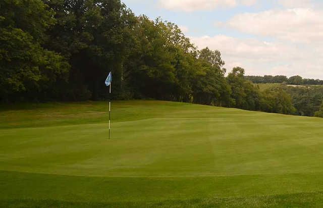 A view of hole #4 at Puttenham Golf Club