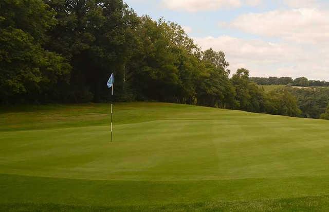 A view of hole #4 at Puttenham Golf Club
