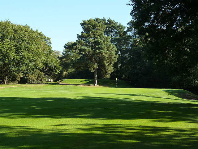 A view of the 5th green at Puttenham Golf Club