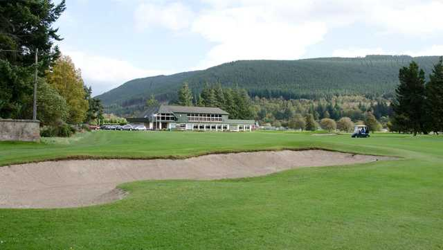 A view of the clubhouse at Ballater Golf Club