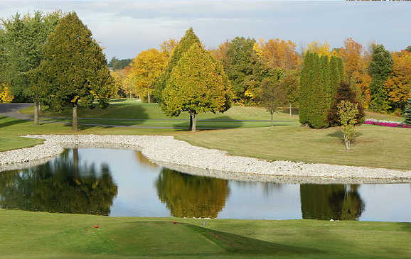 A view over the water from Sheboygan Town & Country Golf Club