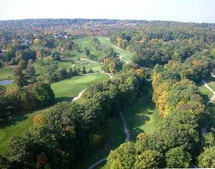 Aerial view from Tyandaga Golf Course