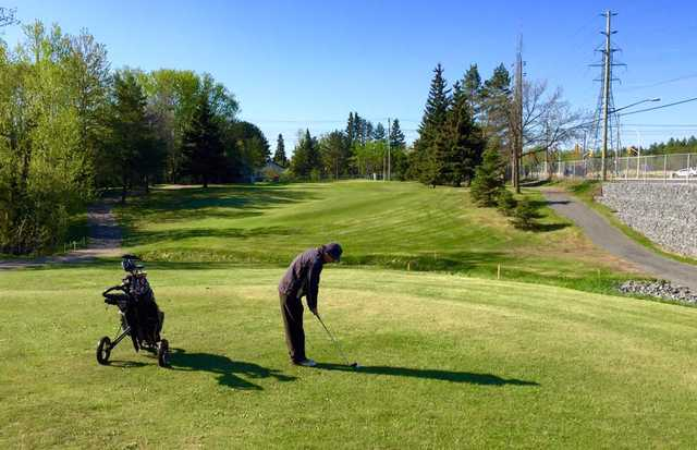 A view of fairway #4 at Thunder Bay Country Club