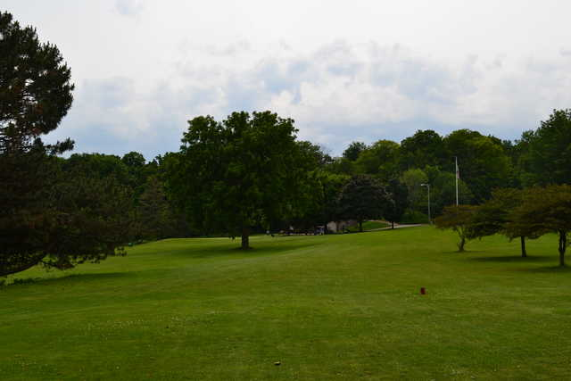 A view from a tee at Washington Park Golf Course
