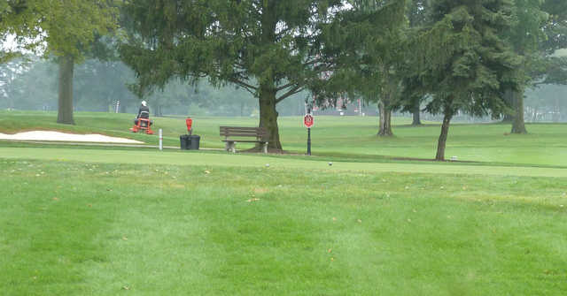 A view of a tee at Ohio State University Golf Course