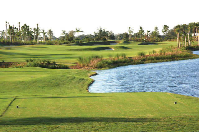 View of the 9th tee box from Tributary course at River Strand Golf and Country Club