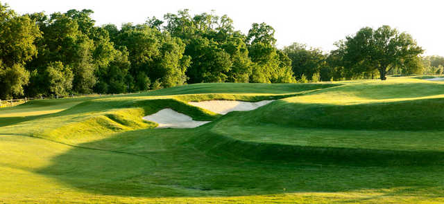 A sunny view with bunkers at Morgan Creek Golf and Country Club