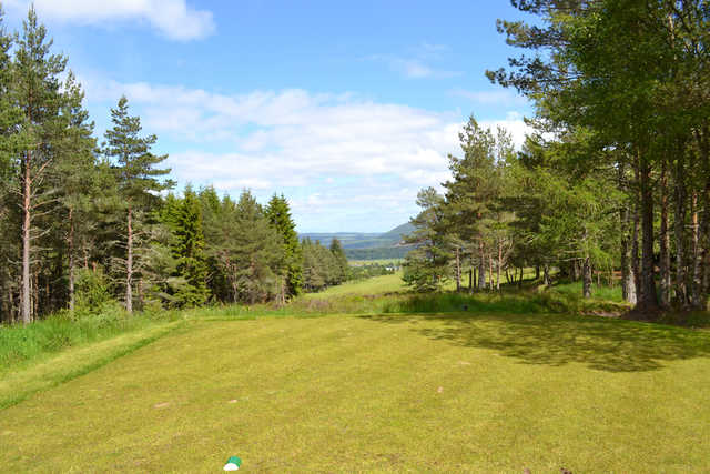 A view from a tee at Rothes Golf Club