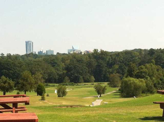 A view from the pro shop at Chastain Park Golf Course