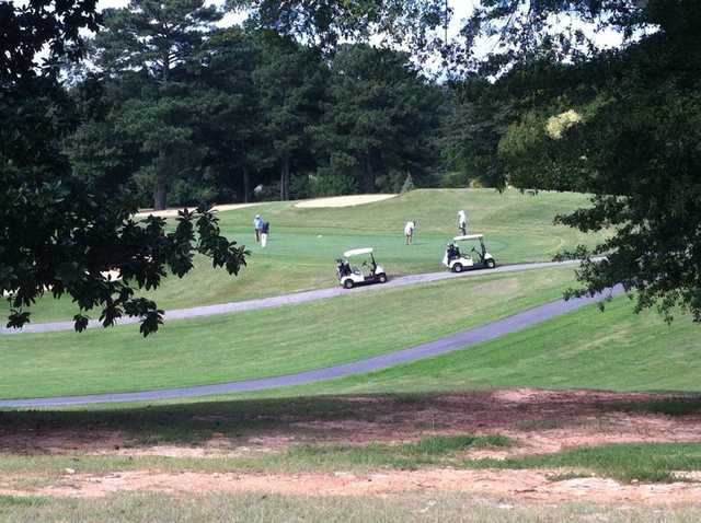 A sunny day view from Chastain Park Golf Course