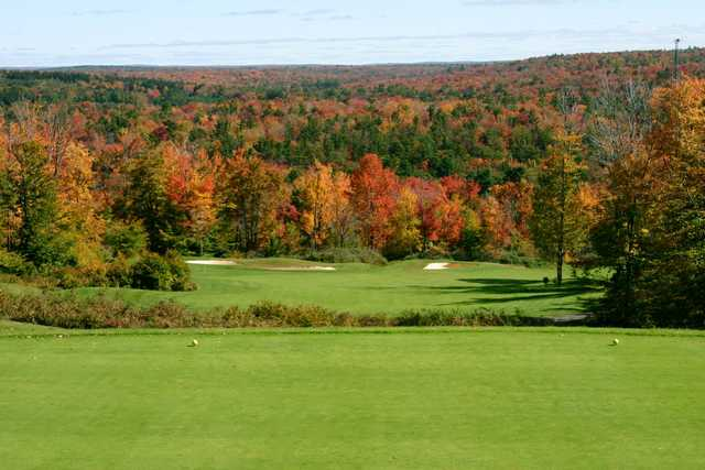Fall view of the 12th hole from the North course at Split Rock Resort & Golf Club