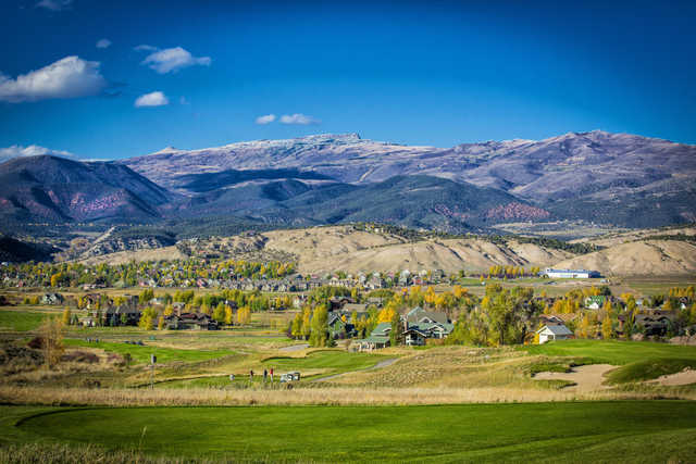 A view from a tee at Eagle Ranch Golf Club