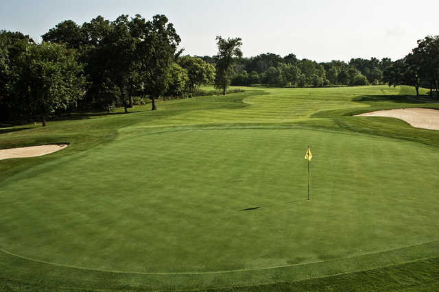 A view of the 15th green from Palmer at Geneva National Golf Club