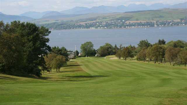 View of a fairway and green at Gourock Golf Club