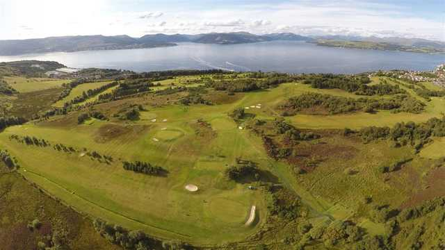 Aerial view from Gourock Golf Club