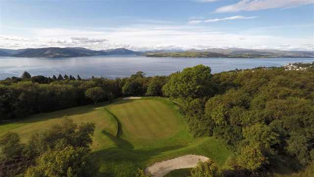 View of a green at Gourock Golf Club