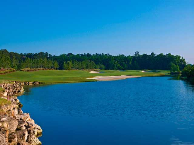 A view over the water from King and Bear Golf Course at World Golf Village