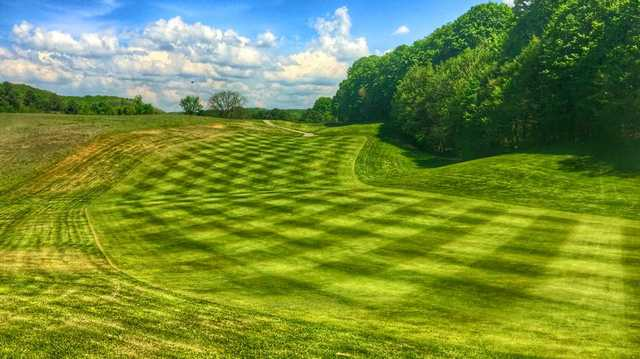 A view of a fairway at Shanty Creek
