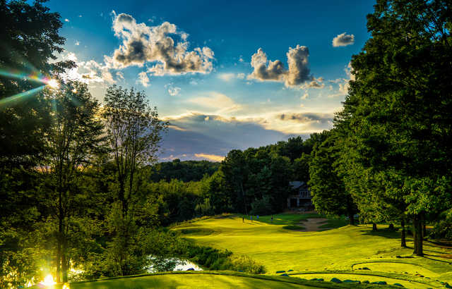 A view from the12th tee at The Legend from Shanty Creek