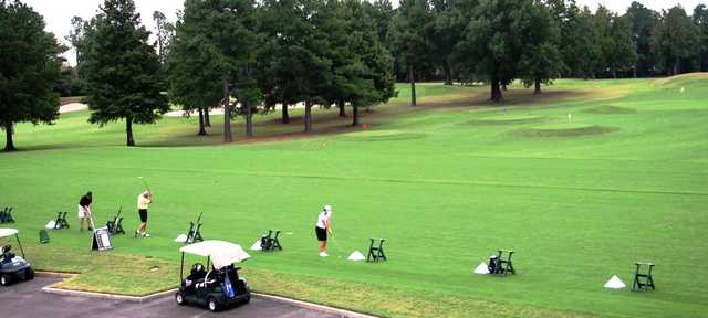 A view of the driving range at Ridgeway Country Club