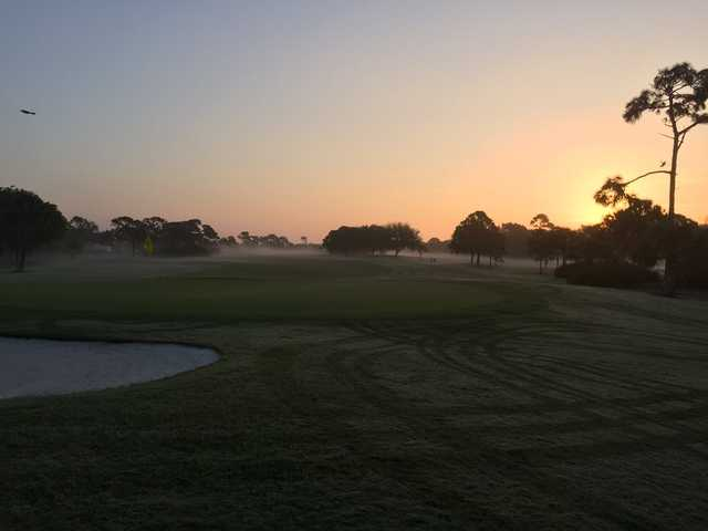 A foggy day view from Suntree Country Club