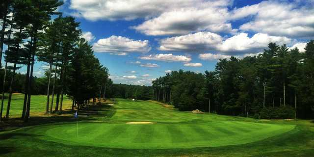 A view of a hole at Acushnet River Valley Golf Course