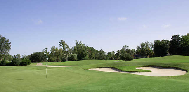 A view of a hole at Deerwood Club