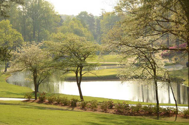 A spring day view from Greenville Country Club