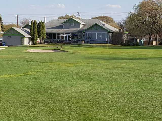 A view of a green at Assiniboine Golf Club