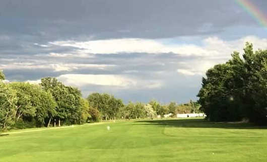 View of fairway #9 at Assiniboine Golf Club