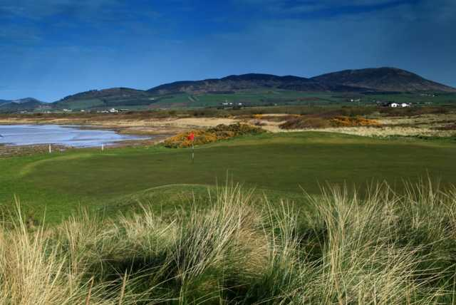 A view of the signature hole #12 at Southerness Golf Club