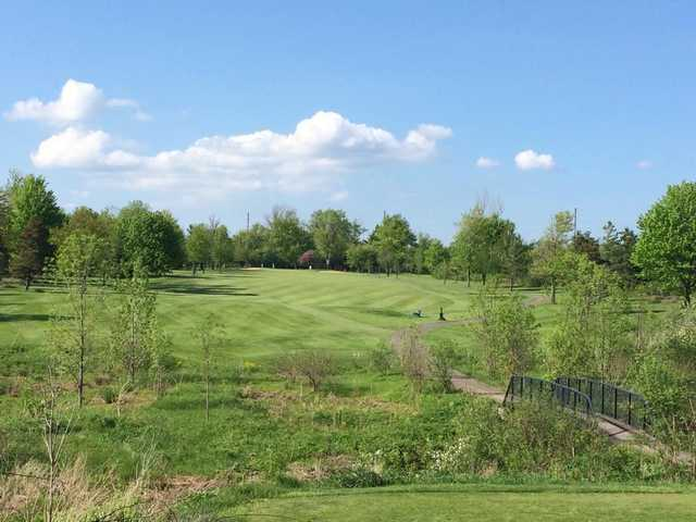 A view of fairway #7 at Bridgewater Country Club