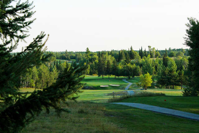 A view of a hole at Kenora Golf and Country Club