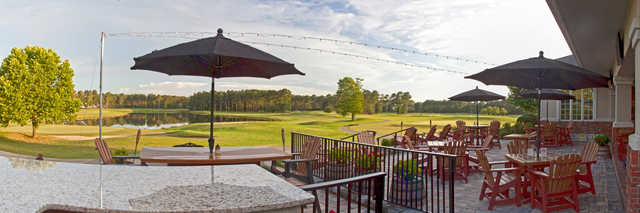 View from the clubhouse patio at Pinecrest Golf Club