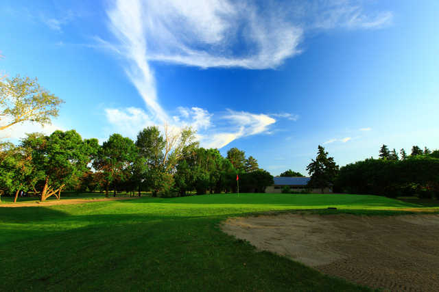 View of the finishing hole at Edmonton Garrison Memorial Golf & Curling Club