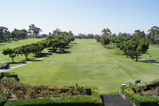 A view of a tee at San Diego Country Club