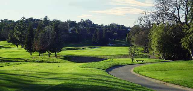 A view from a tee at Menlo Country Club