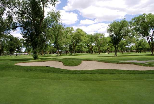A sunny day view from Albuquerque Country Club