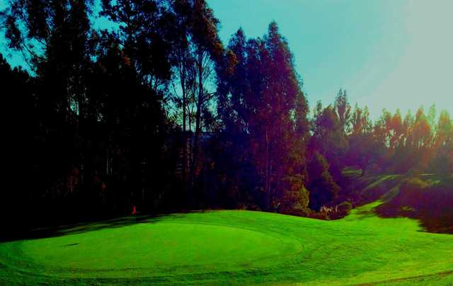 A view of hole #7 at Short from Lake Chabot Municipal Golf Course