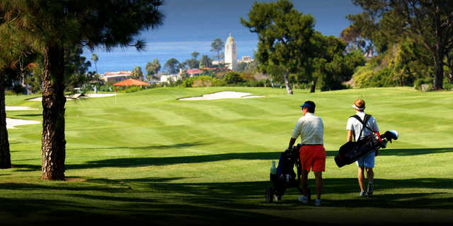 A sunny day view from La Jolla Country Club