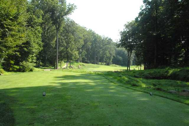 A view from a tee from The Golf Course At Glen Mills